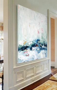 URSPRÜNGLICHE abstrakte Malerei große Kunst Acryl auf