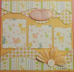 Little Girl 12x12 Premade 2 Page Scrapbook Layout by 2ScrappyGals