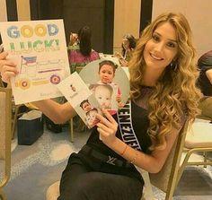 Mariam Habach Miss Venezuela en el Certamen de Miss Universe, Amada por sus Fans, en Filipinas..