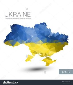 Vector flag of france in the form of blots or blots or spots geometric polygonal style vector map of ukraine with crimea abstract ukraine flag overlay on ukraine map with geometric polygonal design buy this stock gumiabroncs Image collections