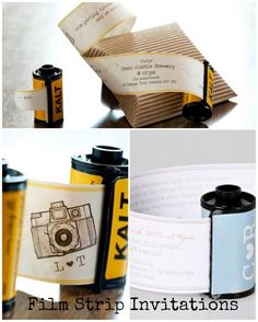 Film Strip Invitations | Boho Weddings - adorable tutorial! :)