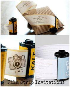 DIY Tutorial: Film Strip Invitations