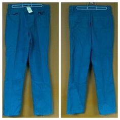Banana Republic Blue Denim  Pants size 6 nwt Banana Republic Blue Denim jean Pants Women's Size 6  size tag states 6L, however the inseam is actually average. Multiple quantities available. Banana Republic Pants Skinny