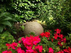 Stone Globe Lights - 28cm diameter sphere with LED light inside