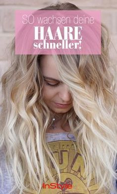 Beauty-Tipp: So wachsen deine Haare schneller! How do hair grow faster? Although there is no panacea, which leads to faster hair growth for everyone, but these tricks can help! Fast Hairstyles, Spring Hairstyles, Hairstyles For School, Natural Hair Care, Natural Hair Styles, Long Hair Styles, Fresh Hair, Hair Health, Grow Hair