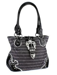 Chevron Print Buckle Handbag - Serendipity Styles