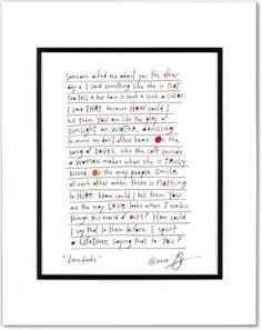 love looks StoryPeople print by Brian Andreas