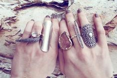 Pretty. Fabulous. Rings....one or two together would be lovely.  I love big statement rings!
