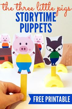 The Three Little Pigs Printable Storytelling Puppets | Childhood101