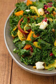 Coconut Chunk Curried Kale Salad | Healthful Pursuit