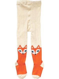 How cute are these fox tights? Peek a boo-ing over your girl's little booties?
