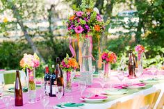 so colorful wedding theme!