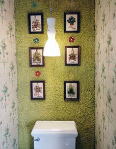 House Tour: Stahl House Shag carpet on wall... Ha!