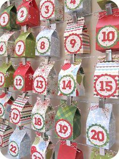 homemade by jill: Milk Box Advent Calendar