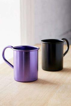 Slide View: 1: Monochrome Metal Mug