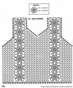 Fabulous Crochet a Little Black Crochet Dress Ideas. Georgeous Crochet a Little Black Crochet Dress Ideas. Crochet Diagram, Crochet Chart, Crochet Motif, Crochet Stitches, Crochet Baby, Crochet Top, Crochet Patterns, Black Crochet Dress, Crochet Cardigan