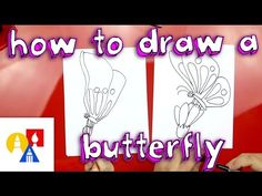 How to draw a cute butterfly on a flower. Fun drawing project for 5 and under.
