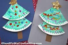 Super Easy Paper Plate Christmas Tree - Kid Craft