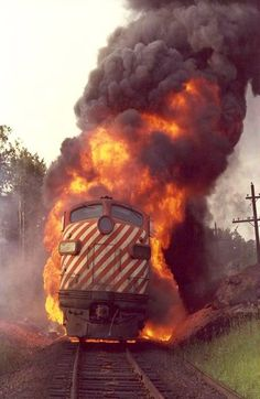 2001 CPR Locomotive fire ~~ Wow!