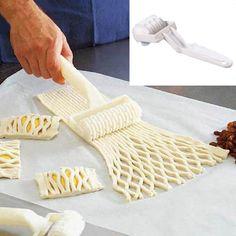 Высокое качество малый Размеры Пластик тесто для выпечки инструмент пирог пиццы, печенья решетки ролик Резак Ремесло кухонные принадлежности купить на AliExpress