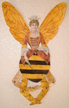 """Queen Bea"" art doll"