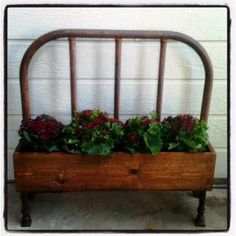 Shannon Smit made this planter out of an old bed headboard Looks like a great something for plants that climb