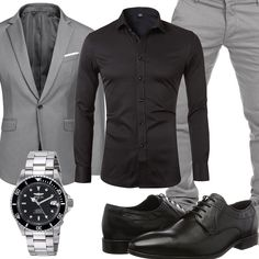 Komplette Outfits, Casual Outfits, Men Casual, Fashion Outfits, Fashion Tips, Mens Fashion Suits, Mens Suits, Herren Outfit, Mens Fall