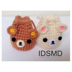 Crochet Doll Pattern, Crochet Art, Cute Crochet, Crochet Crafts, Crochet Dolls, Crochet Patterns, Crochet Coin Purse, Crochet Pouch, Crochet Purses