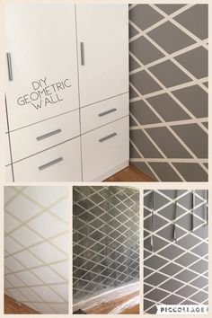 Geometric wall DIY