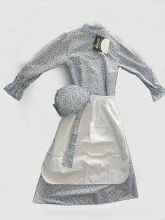 Prairie Girl Dress Set Child New Calico Prairie Dress 1223 $38.88