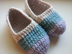 Poochie Baby Crochet Designs: Women's Crochet Ballet Slippers: Free Pattern