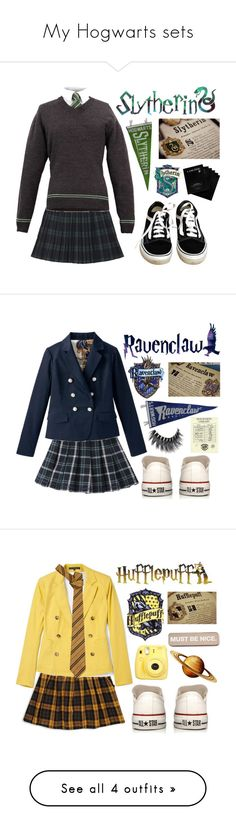"""""""My Hogwarts sets"""" by switchkid ❤ liked on Polyvore featuring Monki, Lancôme, Vans, Converse, Forever 21, Splendid, ELSE, RIPNDIP, Fujifilm and T By Alexander Wang"""