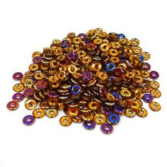 Crystal Copper Sliperit o beads 3.8 mm x 1 mm 8 grams