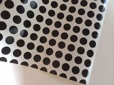 Black and White Polka Dot  Wrapping Paper 30 inches x  12 feet
