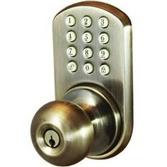 Morning Industry Inc Touchpad Electronic Door Knob (antique Brass) (pack of 1 Ea)