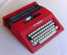 This classic Olivetti typewriter design is by Mario Bellini. Very steady and comfortable to use and fantastic looks. Produced in the mid 70s. The