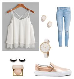 Untitled #43 by a-montelongo on Polyvore featuring polyvore, moda, style, H&M, Vans, Kendra Scott, Stila, fashion and clothing