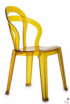 The polycarbonate Titì chair is easily stackable and features a unique design.