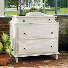 "Olivia Chest 35""W x 20-1/2""D x 36-1/2""H, 103 lbs. Chest top is approximately 33""W x 19""D. $699"