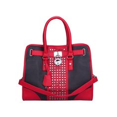 Michael Kors Hamilton Center Stripe Large Red White Tote @  http://www.CuteHandbags.NET