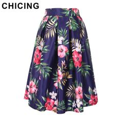 Tropical Flower Print Ball Gown Pleated Midi Skirt Only $19.99 => Save up to 60% and Free Shipping => Order Now! #Skirt outfits #Skirt steak #Skirt pattern #Skirt diy #skater Skirt #midi Skirt #tulle Skirt #maxi Skirt #pencil Skirt