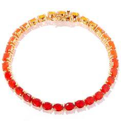 NYC II Shades of Fire Opal Tennis Bracelet