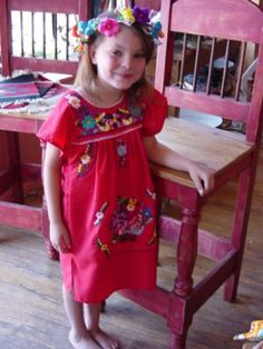 Childrens Mexican Puebla Dress - LaMariposa Mexican Imports - $29 -on Henderson in Dallas