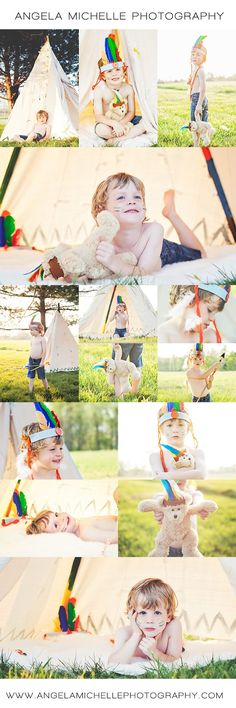Little Indian boy photo session Native American photo themed  Angela Michelle Photography