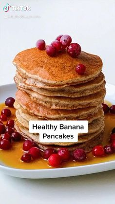 Fun Baking Recipes, Healthy Dessert Recipes, Healthy Desserts, Snack Recipes, Vegan Healthy Pancakes, Health Pancakes, Vegan Banana Pancakes, Healthy Sweet Snacks, Oatmeal Pancakes