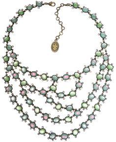 Halskette Collier Melody Drops grün