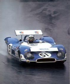 Jack Brabham (at the wheel) / Jean-Pierre Beltoise - Matra MS650 - Equipe Matra-Elf - BOAC 1000 Kilometres World Championship Sports Car Race 1970 - Brands Hatch 1000 Kilometres - International Championship for Makes, round 3 - RAC Sports Car Championship, round 3