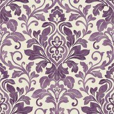 Plum Purple / Cream - 414602 - Mozart - Damask - Arthouse Wallpaper | eBay
