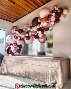 Birthday burgundy, pink and rose gold balloon garland by Stylish Soirees Perth. gold wedding decorations Burgundy, pink and rose gold balloon garland by Stylish Soirees Soirees Perth 18th Birthday Party, Birthday Party Decorations, Wedding Decorations, Birthday Ideas, Rose Gold Table Decorations, 40th Birthday Themes, Sweet 16 Party Decorations, Sweet 16 Decorations, Elegant Birthday Party