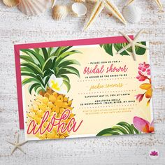 Pineapple Aloha Bridal Shower Invitation by EventswithGrace